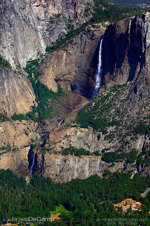 Overlooking Yosemite Valley - Upper & Lower Yosemite Falls (© James D. DeCamp | http://www.JamesDeCamp.com | 614-367-6366)