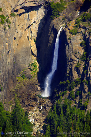 Overlooking Yosemite Valley - Lower Yosemite Falls (© James D. DeCamp | http://www.JamesDeCamp.com | 614-367-6366)