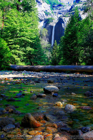 Yosemite Valley - Upper & Lower Yosemite Falls (© James D. DeCamp | http://www.JamesDeCamp.com | 614-367-6366)