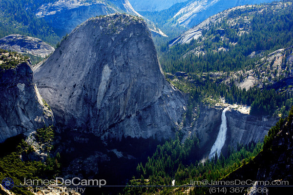Overlooking Yosemite Valley - Nevada Falls & Grizzly Peak (© James D. DeCamp | http://www.JamesDeCamp.com | 614-367-6366)