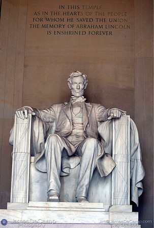 Lincoln Memorial, Washington DC / Annapolis Trip - July, 2002.  (© James D. DeCamp | http://www.JamesDeCamp.com | 614-367-6366)