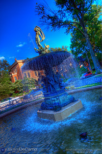 A fountain in Olde Louisville, KY Saturday May 22, 2010. Processed in HDR. (© James D. DeCamp | http://www.JamesDeCamp.com | 614-367-6366)