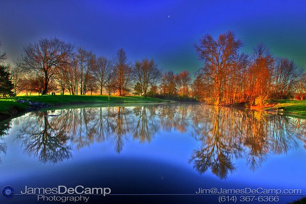 Sunrise photographed in HDR.  (© James D. DeCamp | http://www.JamesDeCamp.com | 614-367-6366)