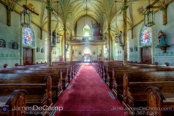 St. Mary Catholic Church in High Hill, Texas, one of the Texas Painted Churches photographed Wednesday August 3, 2016. (© James D. DeCamp | http://www.JamesDeCamp.com | 614-367-6366)