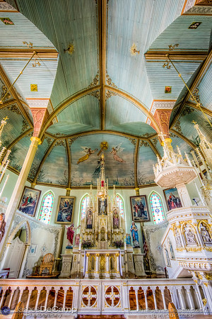 St. Mary's Church of the Assumption in Praha, Texas, one of the Texas Painted Churches photographed Wednesday August 3, 2016. (© James D. DeCamp   http://www.JamesDeCamp.com   614-367-6366)
