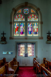 The Saint Cyril and Methodius Catholic Church in Shiner, Texas, one of the Texas Painted Churches photographed Wednesday August 3, 2016. (© James D. DeCamp | http://www.JamesDeCamp.com | 614-367-6366)
