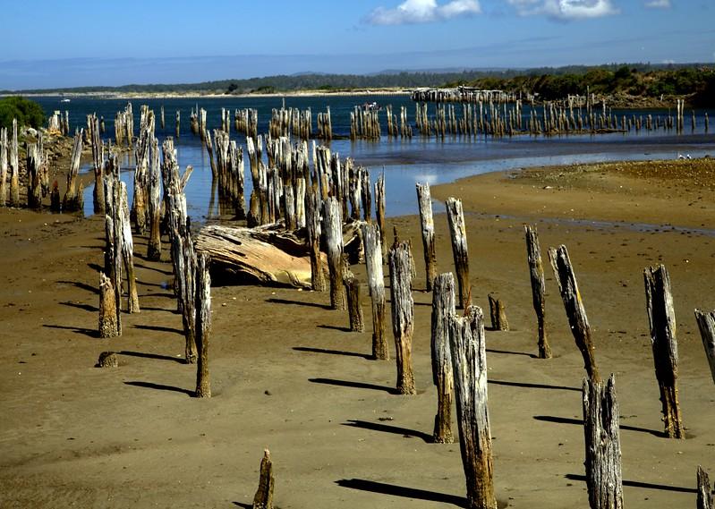 Low Tide. Abandoned port