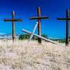 Penitente Morada Crosses, Abiquiu, New Mexico.