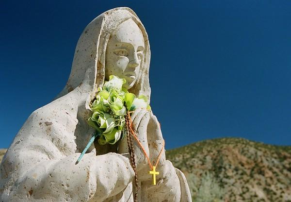 Statuary in El Santuario de Chimayo.