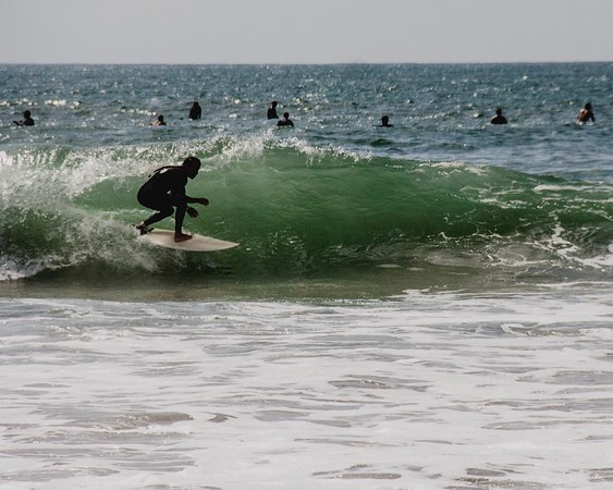 Line Up of Surfers