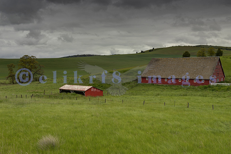 The Red Barn set: an abandoned red barn near Colfax in Washington state's fertile farming country.
