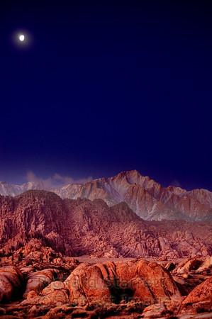 Dawn light over the Sierra