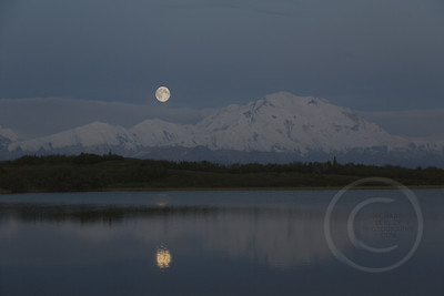 McKinley Moonset