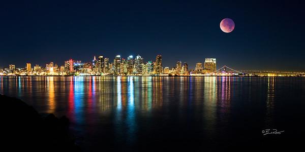 San Diego and Lunar eclipse