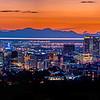 Sunset panorama of Downtown Salt Lake City
