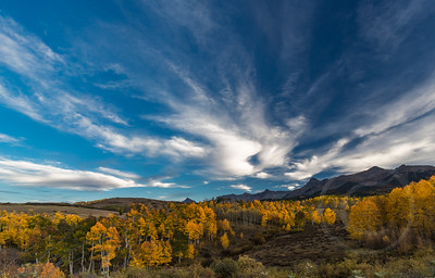 Cloudscape and Golden Aspens