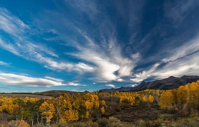 Cloudscape and Golden Aspens