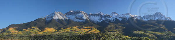 Fall Foliage Mount Sneffels Range
