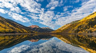 Crystal Lake Fall Foliage Reflection