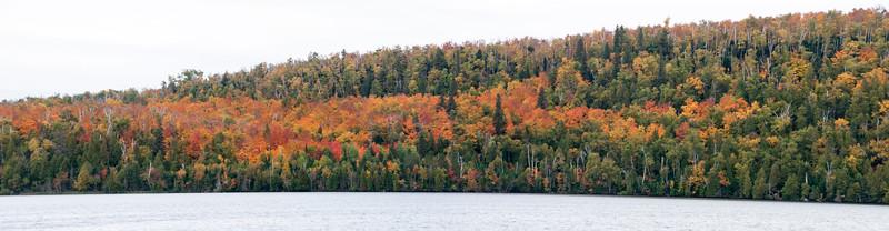 Fall Color Panorama - Lax Lake - Lake County, MN