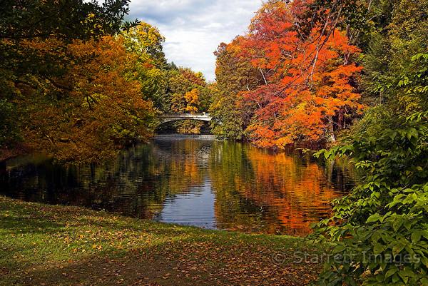 Pond, Hyde Park, Vanderbilt  Mansion National Historic site