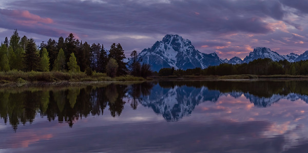 Mt Moran, Oxbow Bend Reflection at Sunset