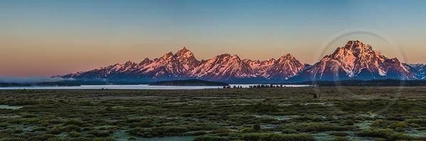 Teton Range Sunrise Panorama