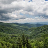 Scenic overlook in the Smokies
