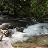 Oconaluftee River running over rocks in the Smokies