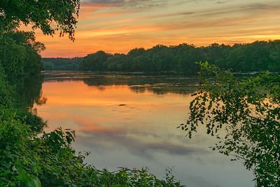 Sunset at Huguenot Flatwater