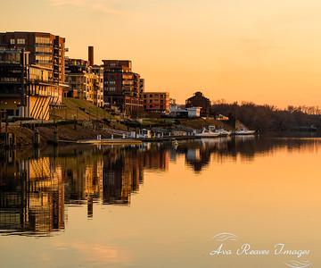 Golden Winter Reflections