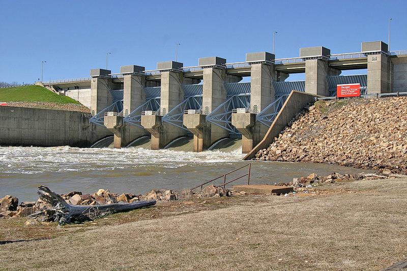 Hugo Dam on the Kiamichi River.