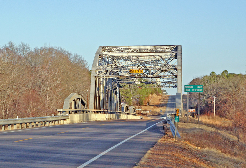 Kiamichi Bridge on Highway 3 about 4 miles from me.