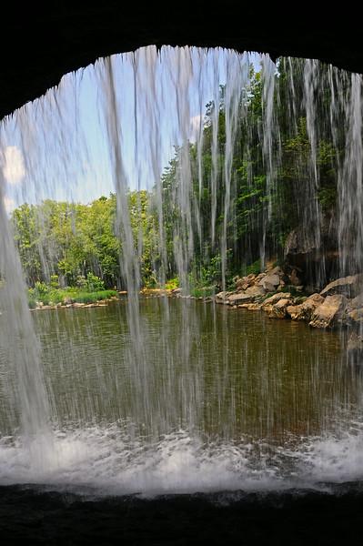 Behind upper Cataract Falls - Owen County, IN - 2013