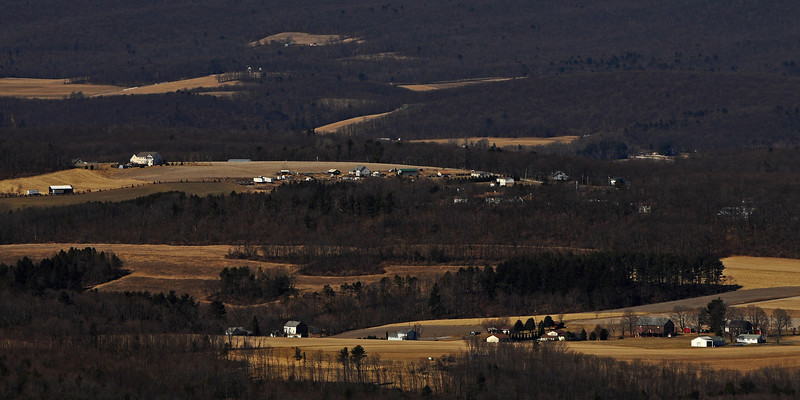 View of Carbon County, PA from north overlook of Bake Oven Knob - 2013