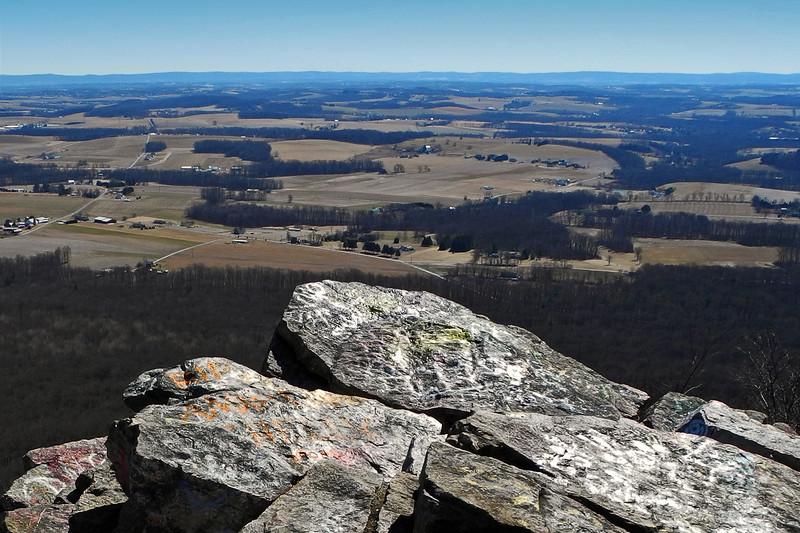 View of Lehigh County, PA from south overlook of Bake Oven Knob - 2013