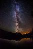 Stanley Lake Idaho Milky way and Meterite