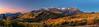 Morning sunrise panorama behind Mt. Timpanogas