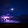 Storm over antelope Island