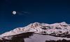 Penumbral stage of eclipse, looking towards Strawberry peak