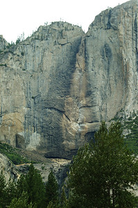 Dried up Yosemite falls 2002