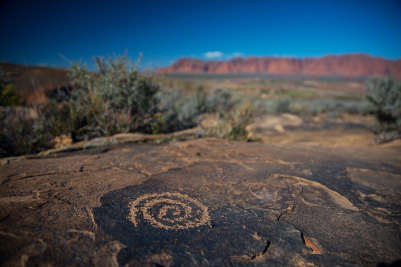 Spiral petroglyph