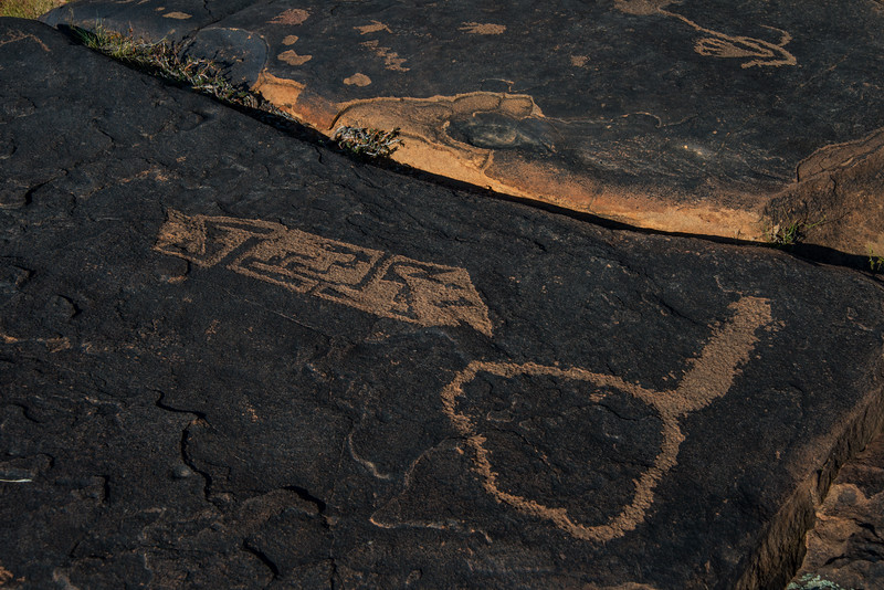"""Despite volumes of scholarly study, no one can say with certainty what the etchings/paintings meant to the artists and their culture, but, clearly, rock art was not, as some have theorized, mere idle doodling, a kind of prehistoric """"tagging."""" Rock is not an easy medium to work. The more elaborate petroglyphs took many perfectly placed hits to create and required untold hours to complete. Hunting and gathering societies survived on a fine edge in a difficult landscape. Members of such societies had little time for idle doodling."""