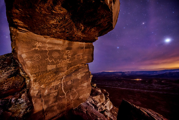 Warner Valley petroglyphs and setting Venus
