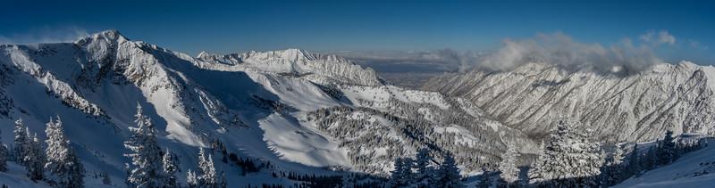 Looking towards Salt Lake Valley from Hidden Peak