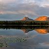 teapot lake reflection sunset pano