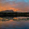 sunset pano teapot lake