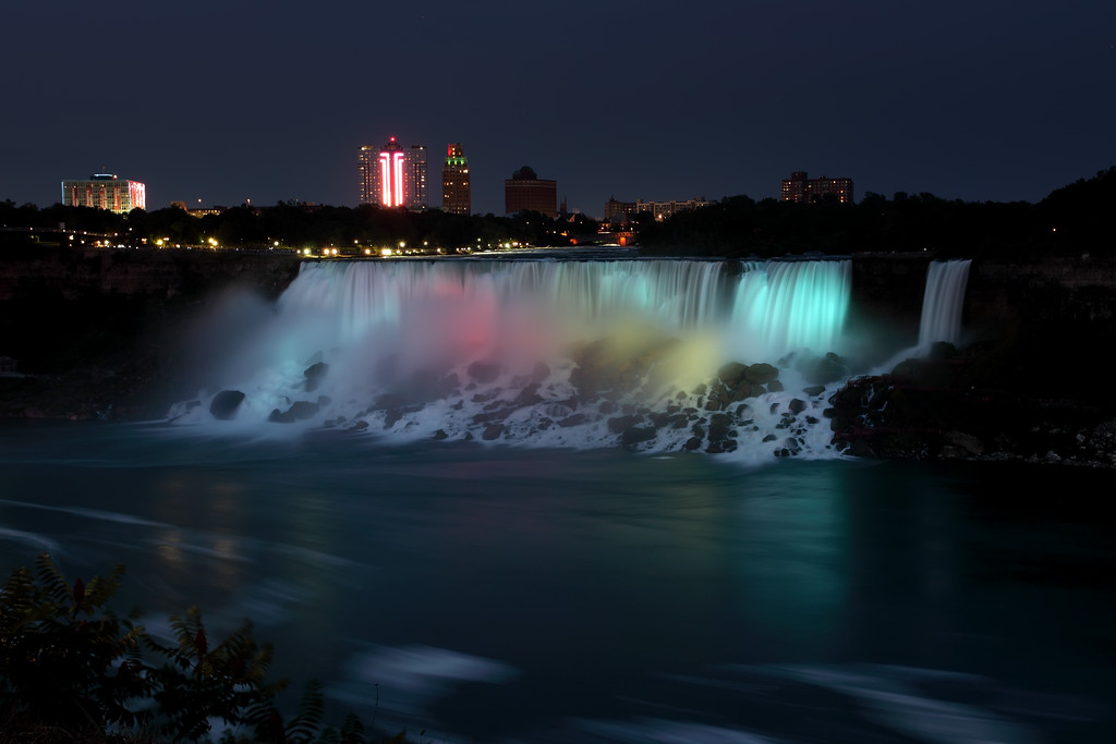 Colorful falls