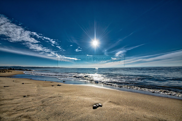 """Shining Light"" - Morning at Capitola Beach"