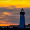 Santa Cruz Lighthouses at Sunset